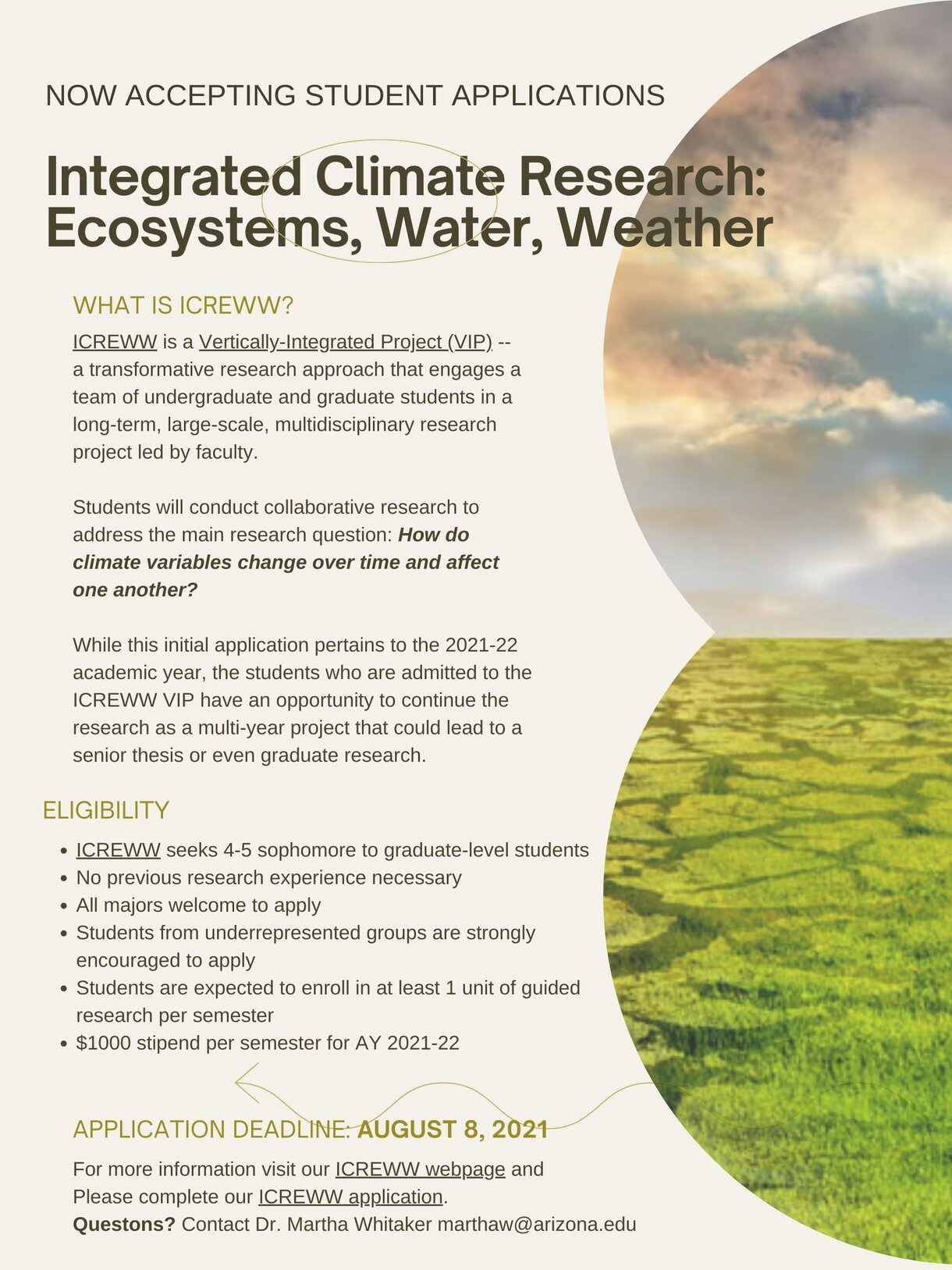 Image Integrated Climate Research Ecosystems Water Weather Poster